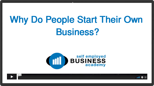 Why do people start their own business?
